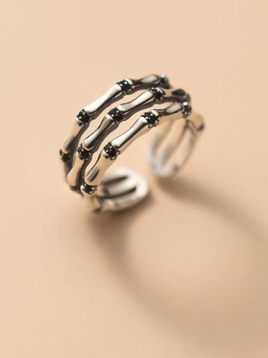 925 Sterling Silver Irregular Vintage Stackable Ring