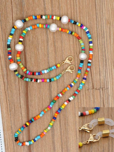 ZZ N200118A Stainless steel Bead Multi Color Acrylic Letter Bohemia Necklace