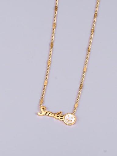 Titanium Steel Shell Letter Minimalist Necklace