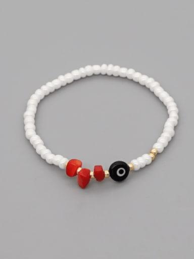 Stainless steel Freshwater Pearl Irregular Minimalist Stretch Bracelet