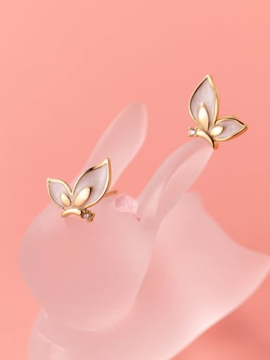 925 Sterling Silver Enamel Butterfly Cute Stud Earring
