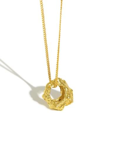 925 Sterling Silver Oval Vintage Necklace