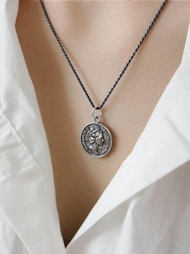 925 Sterling Silver Irregular Vintage Necklace