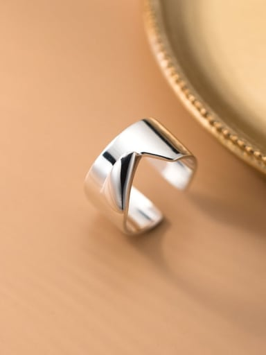 925 Sterling Silver Smooth Geometric Minimalist Band Ring