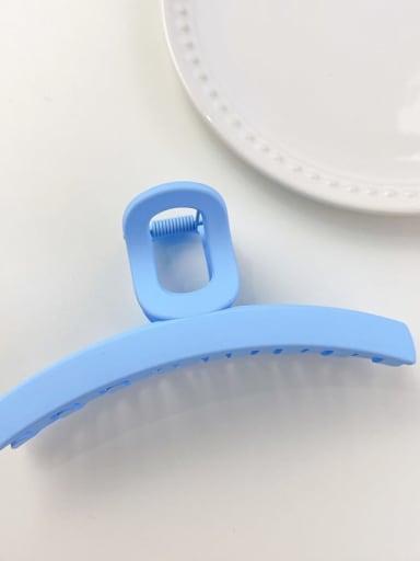 Blue 11.5cm Alloy Resin Minimalist Geometric Jaw Hair Claw