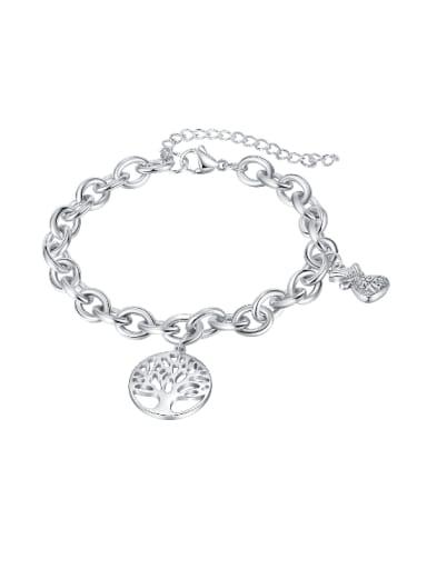 Titanium Steel Tree of Life Hip Hop Link Bracelet