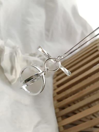 925 Sterling Silver Geometric Minimalist Long Strand Necklace