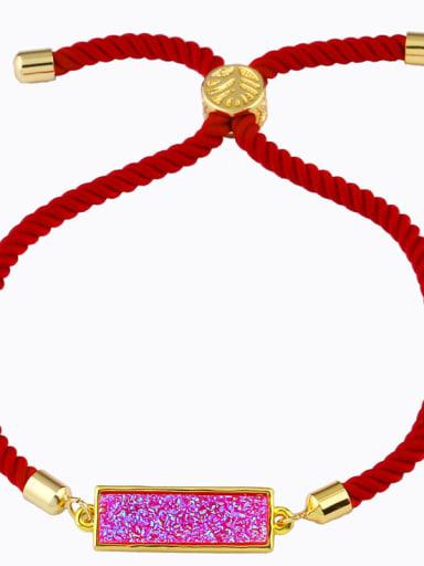 Red rope rose Red rope Geometric Minimalist Adjustable Bracelet