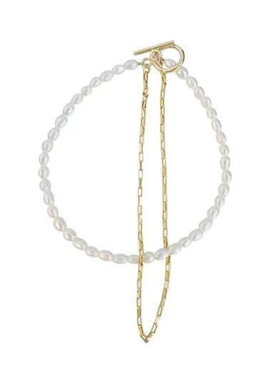 Titanium Steel Imitation Pearl Geometric Vintage Strand Bracelet