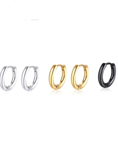 Stainless steel Geometric Minimalist Huggie Earring