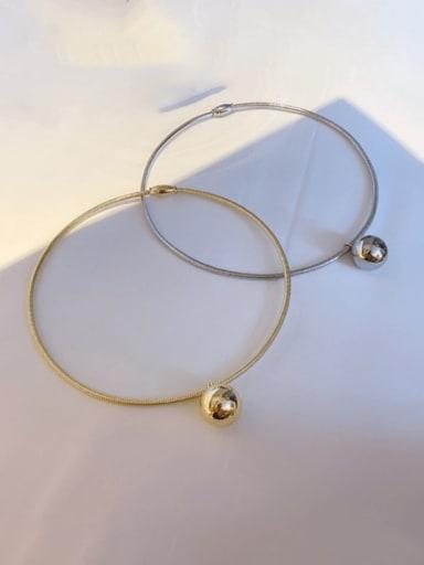 Titanium Steel Ball Statement Choker Necklace