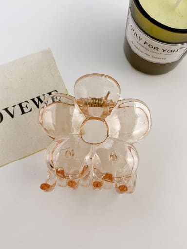 Champagne 7cm Alloy Resin Trend Flower Jaw Hair Claw