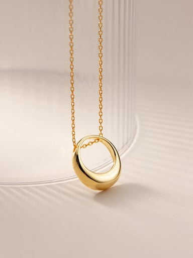 925 Sterling Silver Hollow Geometric Minimalist Necklace