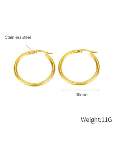 703 gold plated earrings Titanium Steel Geometric Minimalist Hoop Earring