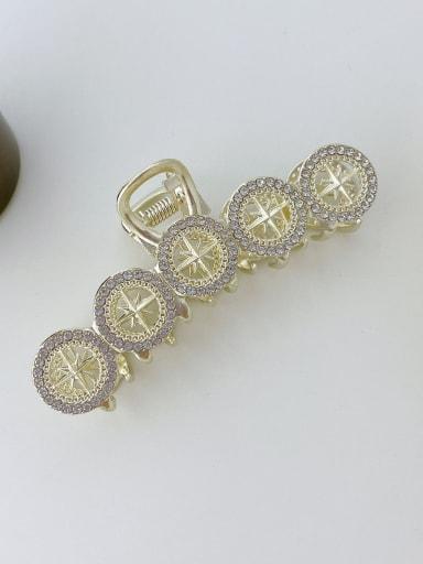 Five round Rhinestone 9cm Alloy Imitation Pearl Trend Geometric  Jaw Hair Claw