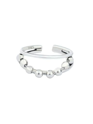 925 Sterling Silver  Round  BeadVintage Stackable Ring