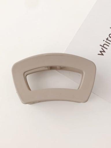 Light brown frosting Cellulose Acetate Minimalist Geometric Alloy Jaw Hair Claw