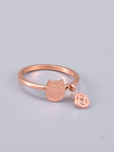 Titanium Steel Cat Minimalist Midi Ring