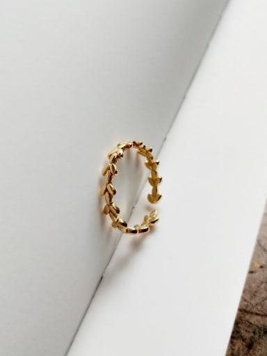 Leaf ring J 745 925 Sterling Silver Letter Minimalist Free Size Midi Ring