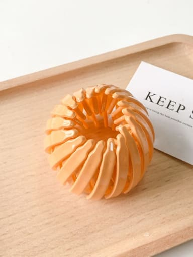 orange Cellulose Acetate Cute Geometric Jaw Hair Claw