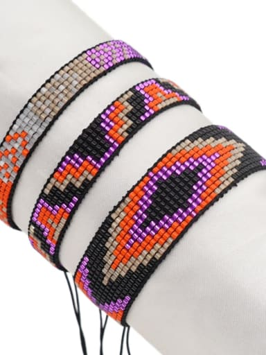 Multi Color Miyuki DB  Bead Geometric Artisan Handmade Weave Bracelet