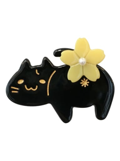 Alloy Cellulose Acetate Cute Cat  Hair Barrette