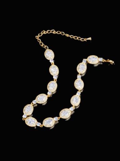 Brass Cubic Zirconia Water Drop Luxury Bracelet