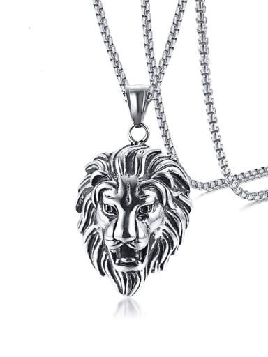 Titanium Steel Lion Hip Hop Necklace