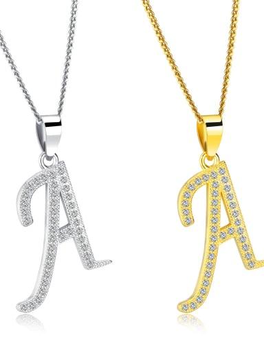 Brass Message Minimalist Regligious Necklace