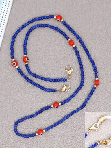 GZ N200002E Stainless steel Bead Multi Color Evil Eye Bohemia Hand-woven Necklace