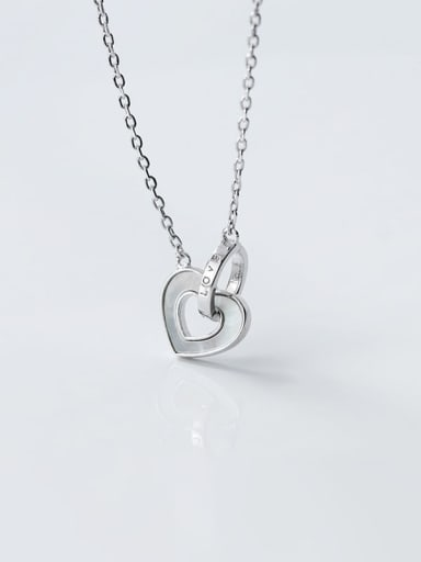 925 Sterling Silver Shell Heart Minimalist Necklace