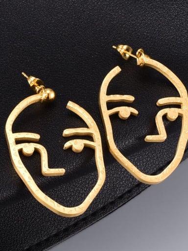 Titanium Steel Face Minimalist Drop Earring