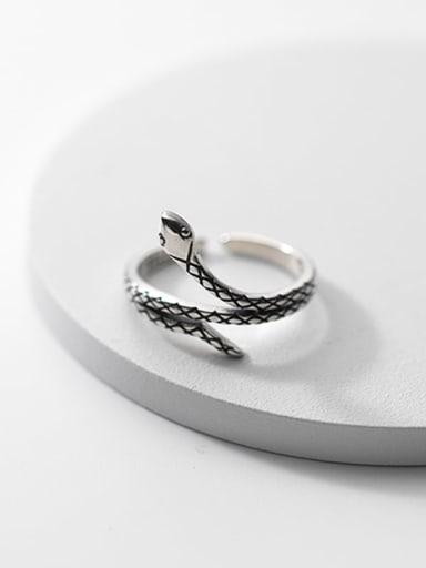 925 Sterling Silver Snake Vintage Band Ring