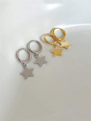 925 Sterling Silver Smooth Moon Vintage Huggie Earring