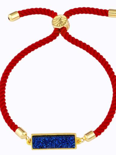 Red rope royal blue Red rope Geometric Minimalist Adjustable Bracelet