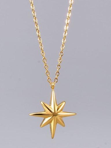 Titanium Steel Star Minimalist Long Strand Necklace