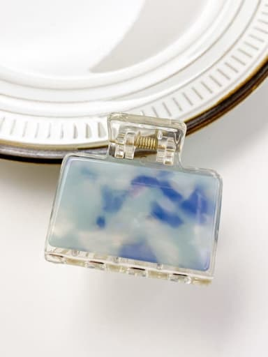 Fresh blue 5cm Cellulose Acetate Minimalist Square Alloy Multi Color Jaw Hair Claw