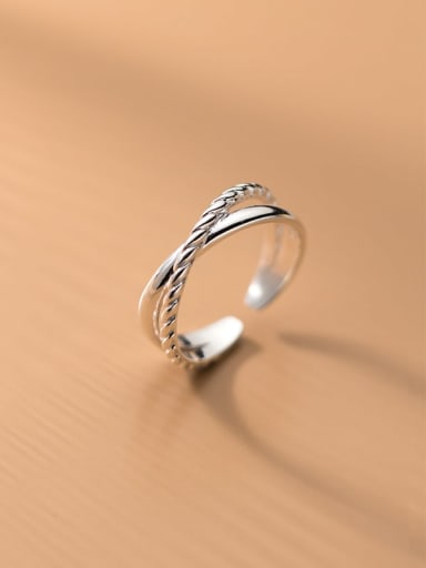 925 Sterling Silver Cross Minimalist Stackable Ring