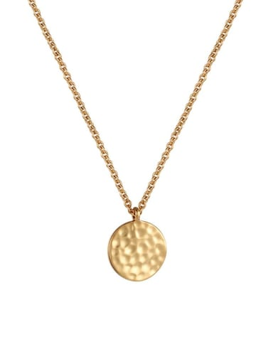 golden Brass Geometric Minimalist  Pendant Necklace