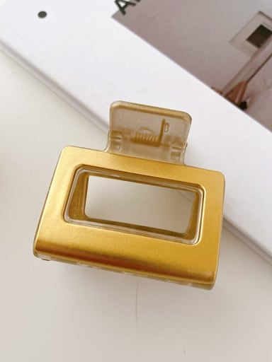 Champagne gold 5cm Alloy Resin Minimalist Geometric Multi Color Jaw Hair Claw