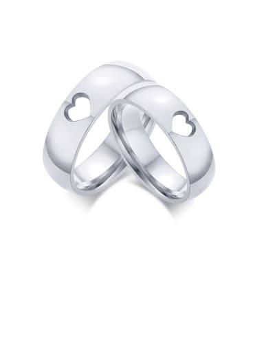 Stainless steel Heart Minimalist Couple Ring