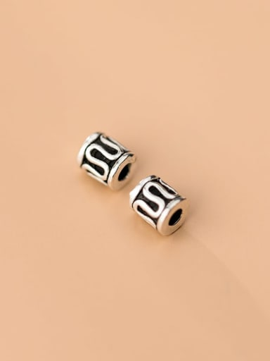 925 Sterling Silver With  Minimalist 5mm Geometric Beads  Diy Jewelry Accessories