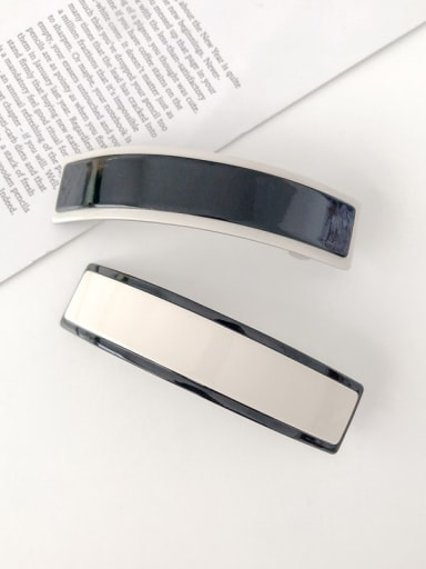 Cellulose Acetate Minimalist Geometric Alloy Hair Barrette