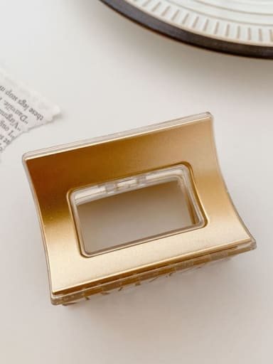 Champagne gold 6cm Alloy Resin Minimalist Geometric Multi Color Jaw Hair Claw