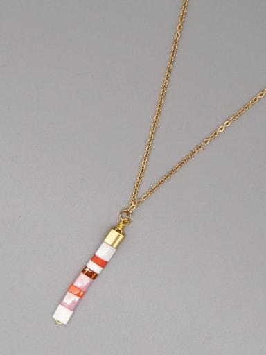 TL N200017C Stainless steel Miyukitila Geometric Bohemia Pure handmade Necklace