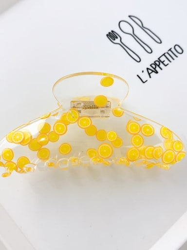 Orange 11cm Acrylic Minimalist Irregular Alloy Multi Color Jaw Hair Claw