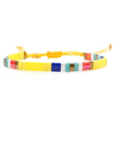 TL B190267A Tila Bead Bohemia Multi Color Square  Pure Handmader  Adjustable Bracelet