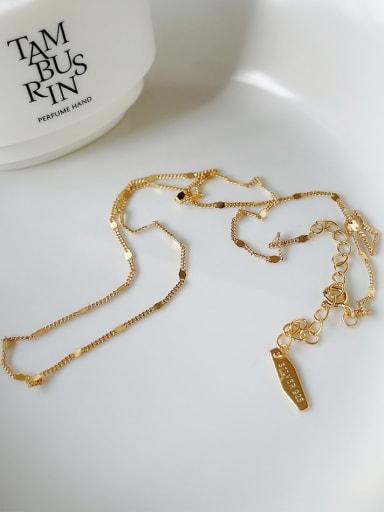 925 Sterling Silver Irregular Vintage Chain Necklace