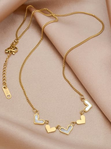 Titanium Steel Shell Heart Minimalist Necklace