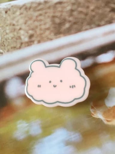 Pink Rabbit Alloy Cellulose Acetate Cute Animal Frog  Hair Barrette